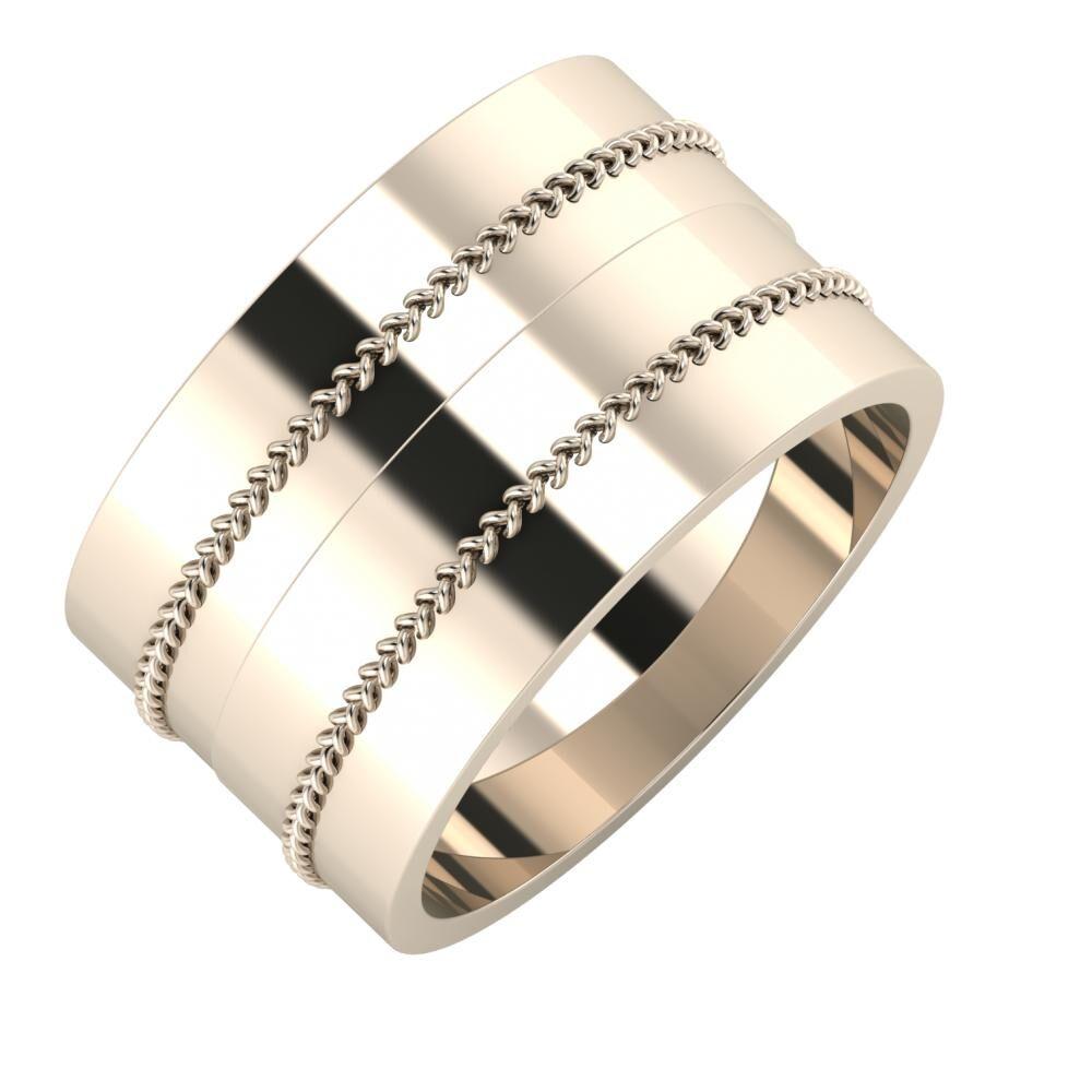 Áfonya - Áfonya 12mm 22 karátos rosé arany karikagyűrű