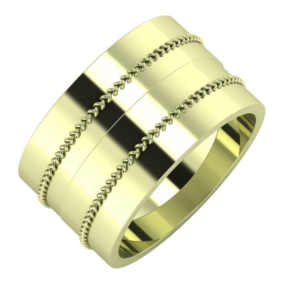 Áfonya - Áfonya 12mm 14 karátos zöld arany karikagyűrű