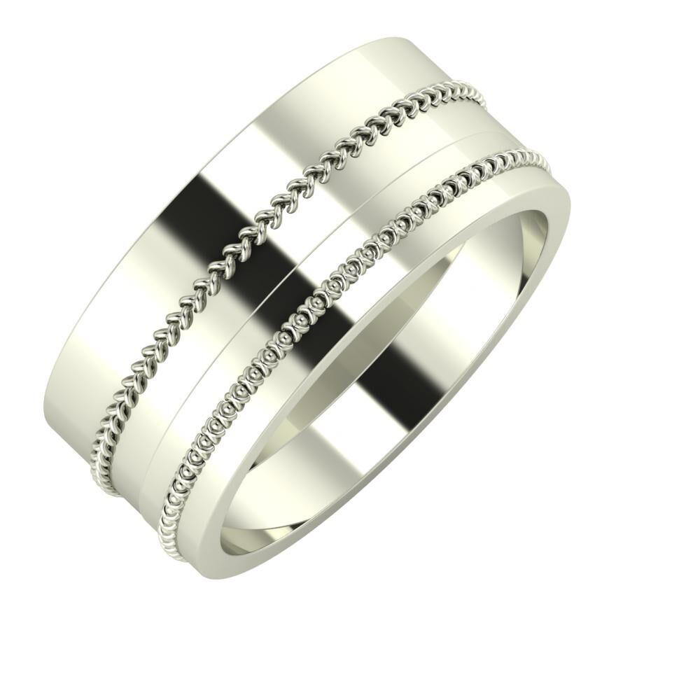 Áfonya - Afrodita 9mm 14 karátos fehér arany karikagyűrű