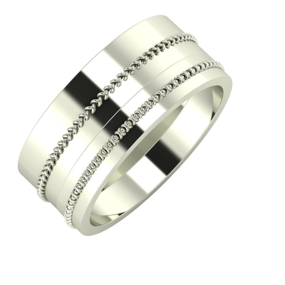 Áfonya - Afrodita 9mm 18 karátos fehér arany karikagyűrű