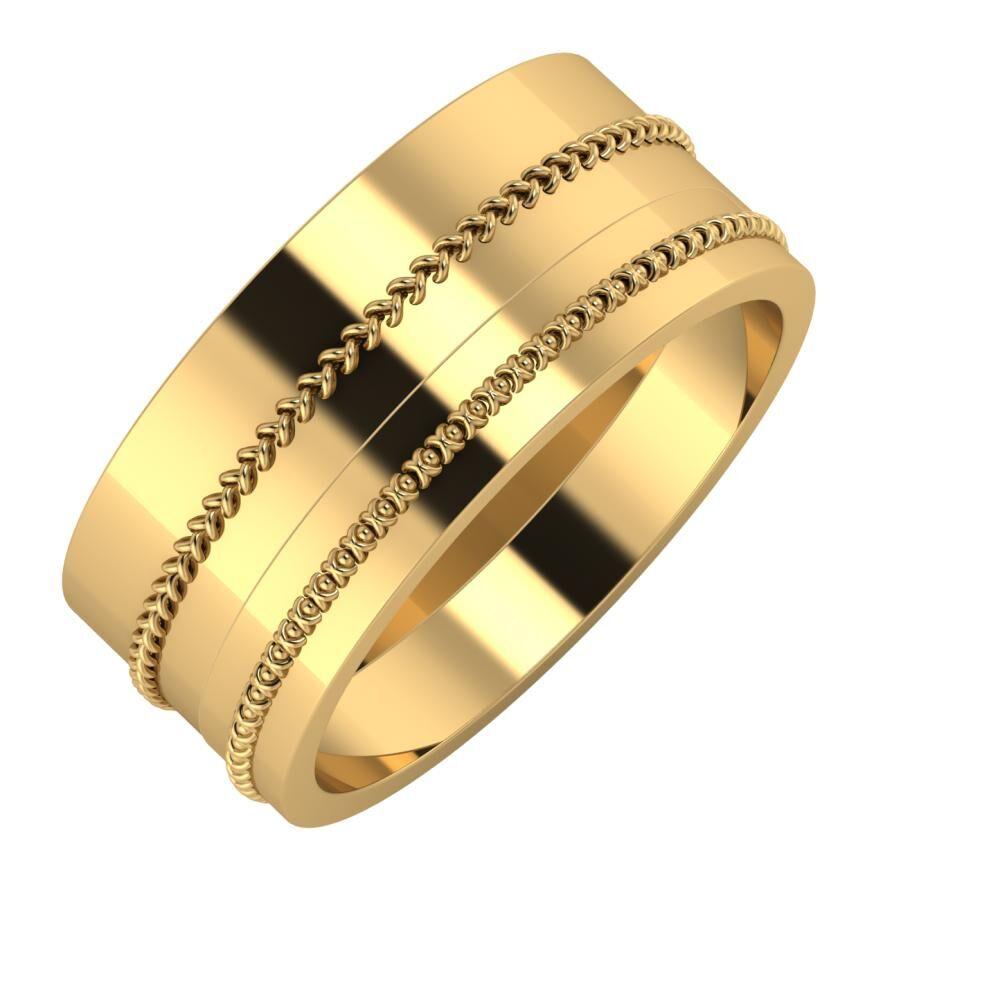 Áfonya - Afrodita 9mm 22 karátos sárga arany karikagyűrű