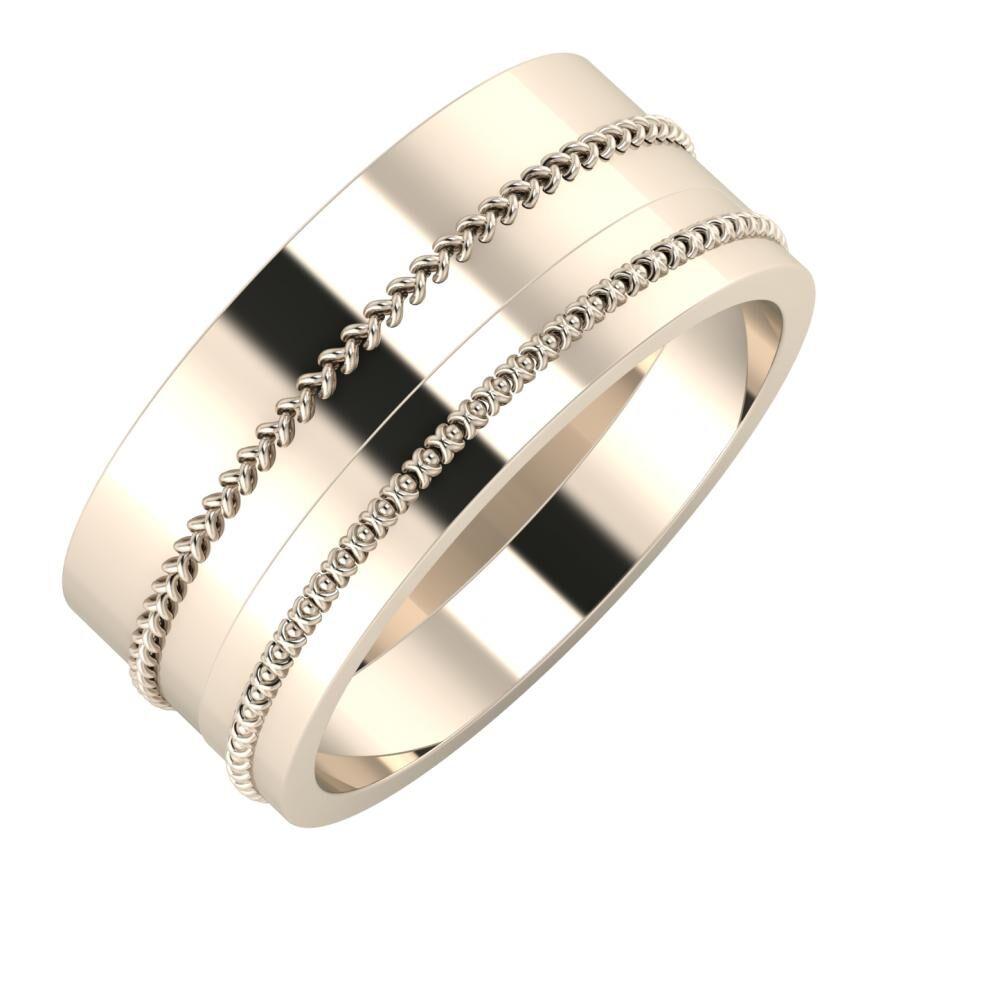 Áfonya - Afrodita 9mm 22 karátos rosé arany karikagyűrű