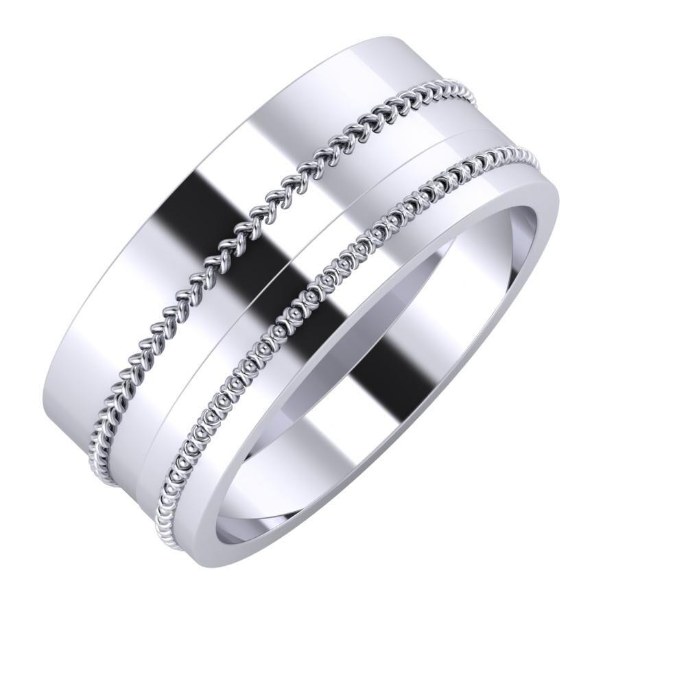 Áfonya - Afrodita 9mm platina karikagyűrű