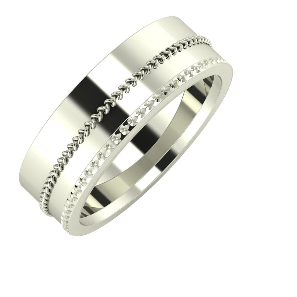 Áfonya - Ági 7mm 14 karátos fehér arany karikagyűrű