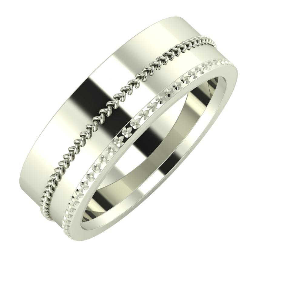Áfonya - Ági 7mm 18 karátos fehér arany karikagyűrű