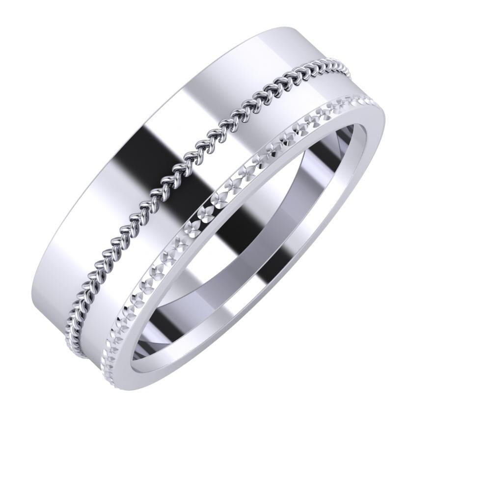 Áfonya - Ági 7mm platina karikagyűrű