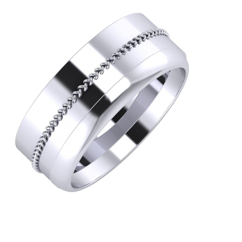 Áfonya - Ágosta 8mm platina karikagyűrű