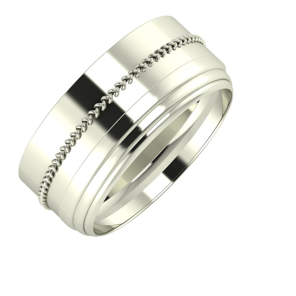 Áfonya - Aina 9mm 18 karátos fehér arany karikagyűrű