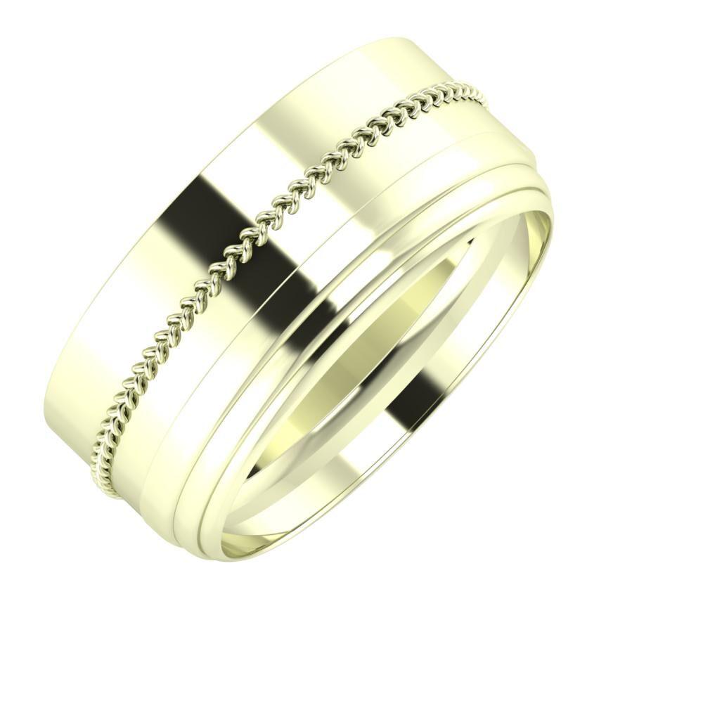 Áfonya - Aina 9mm 22 karátos fehér arany karikagyűrű
