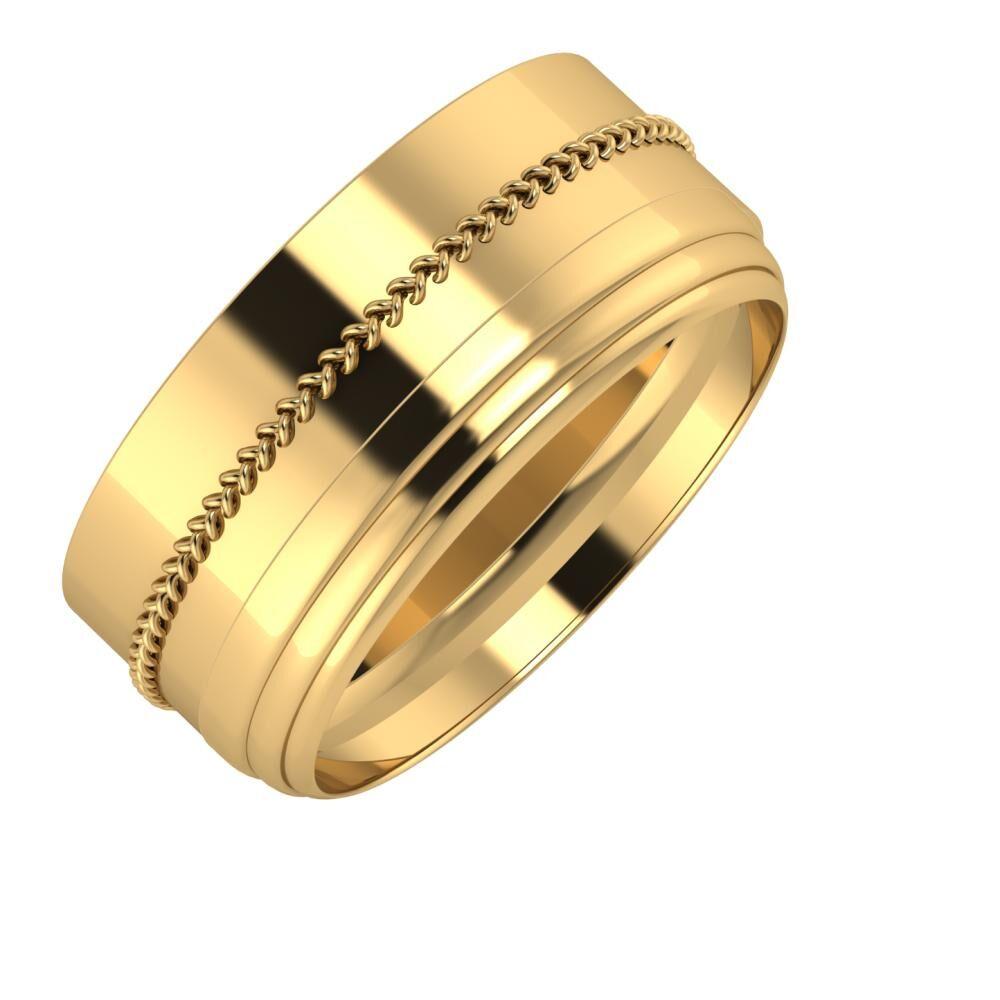 Áfonya - Aina 9mm 18 karátos sárga arany karikagyűrű