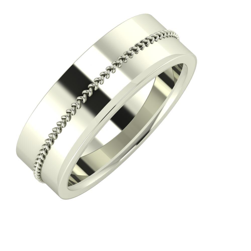 Áfonya - Aisa 7mm 18 karátos fehér arany karikagyűrű