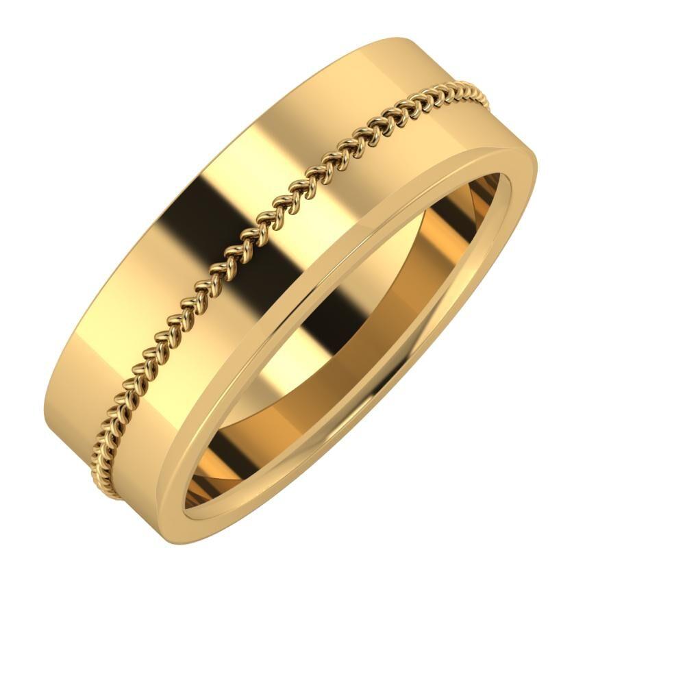 Áfonya - Aisa 7mm 22 karátos sárga arany karikagyűrű