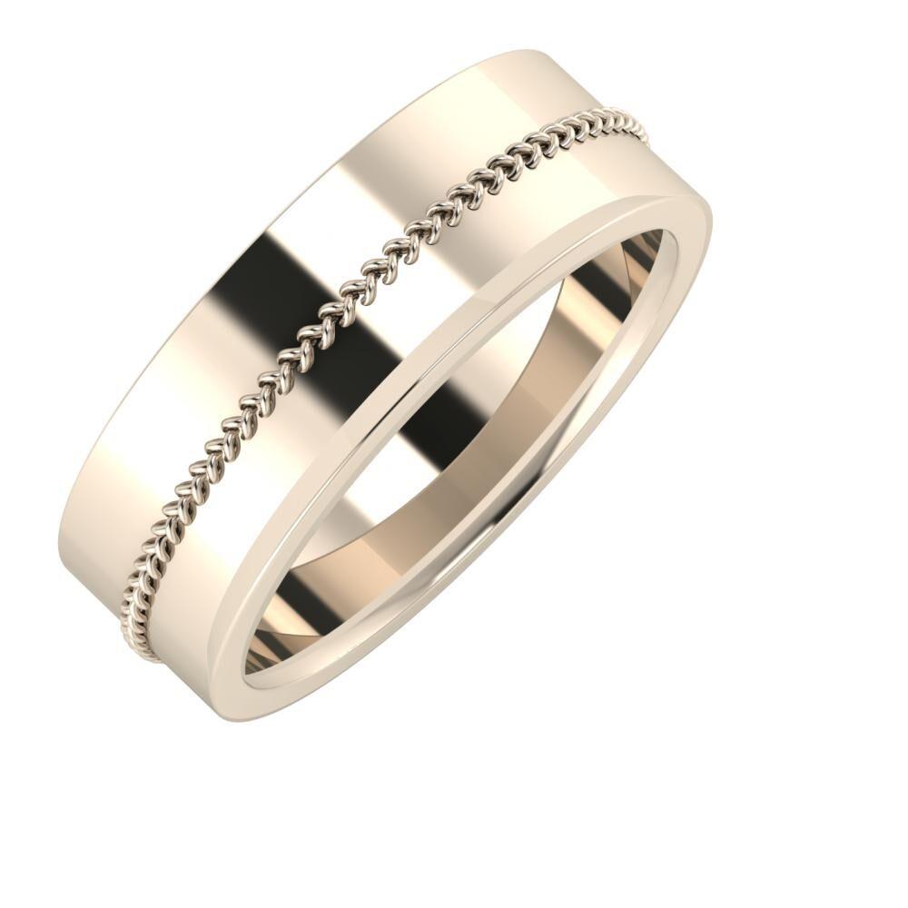 Áfonya - Aisa 7mm 22 karátos rosé arany karikagyűrű