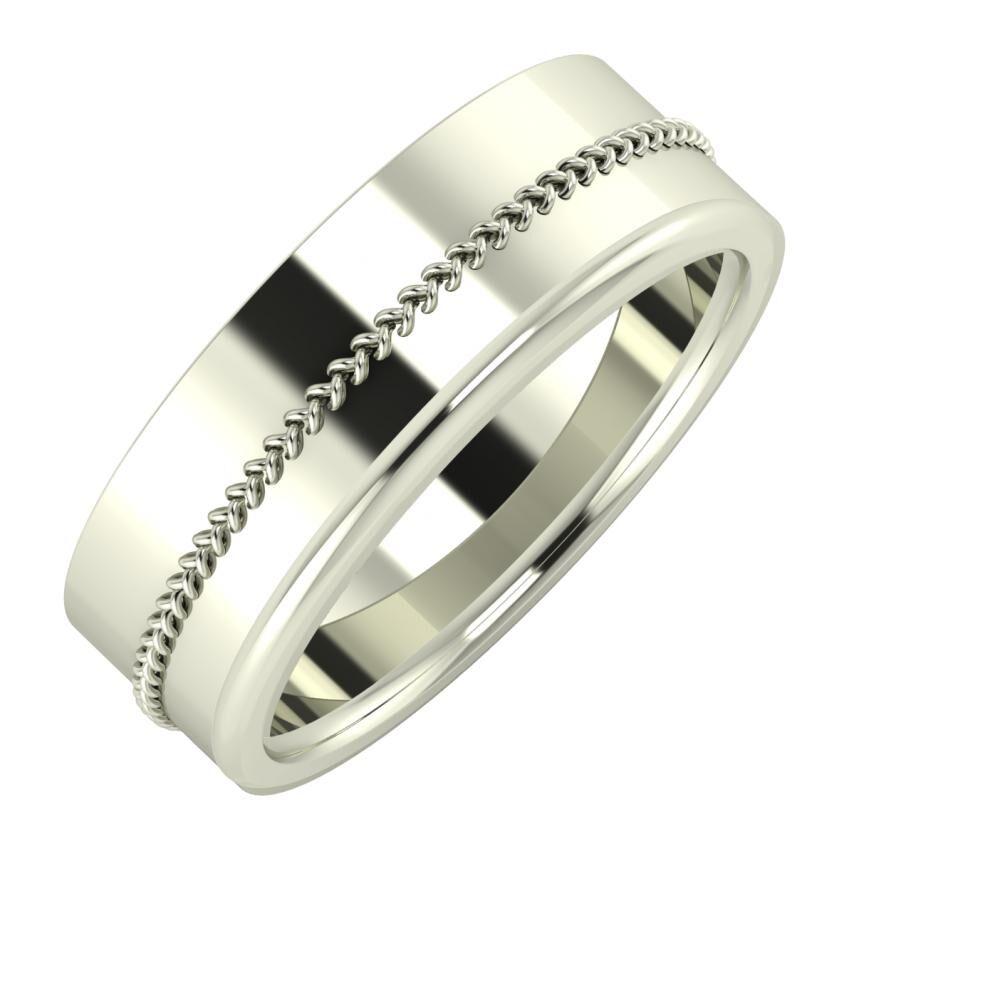 Áfonya - Aletta 7mm 18 karátos fehér arany karikagyűrű