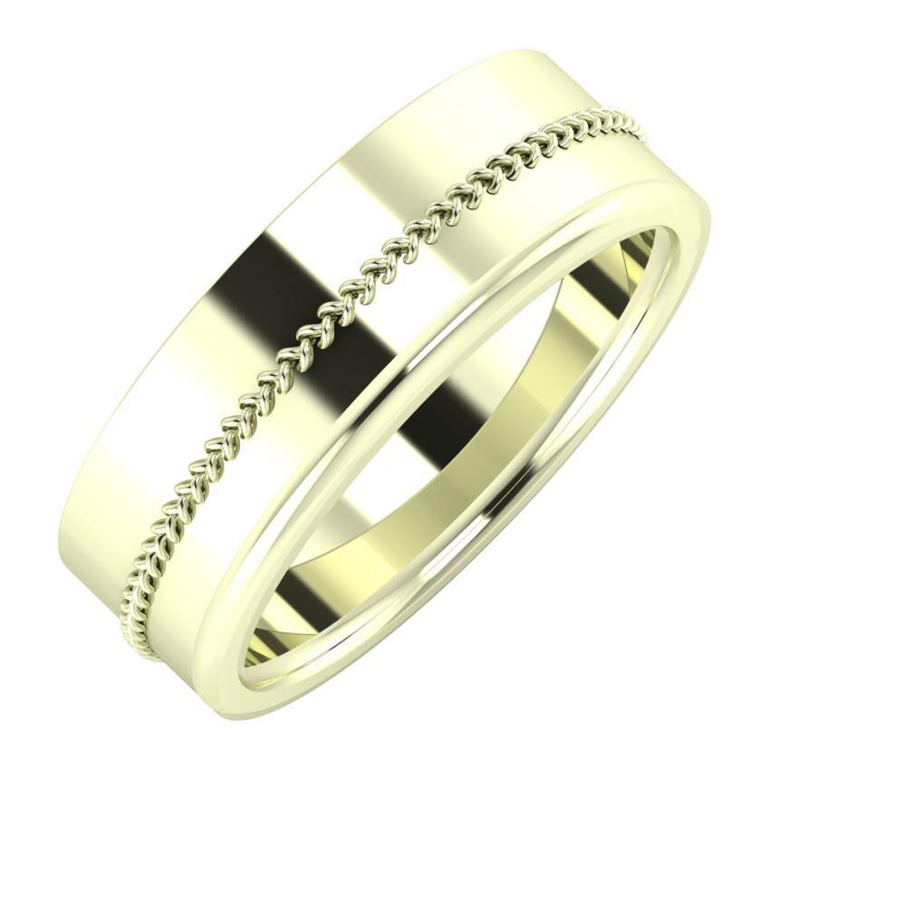 Áfonya - Aletta 7mm 22 karátos fehér arany karikagyűrű