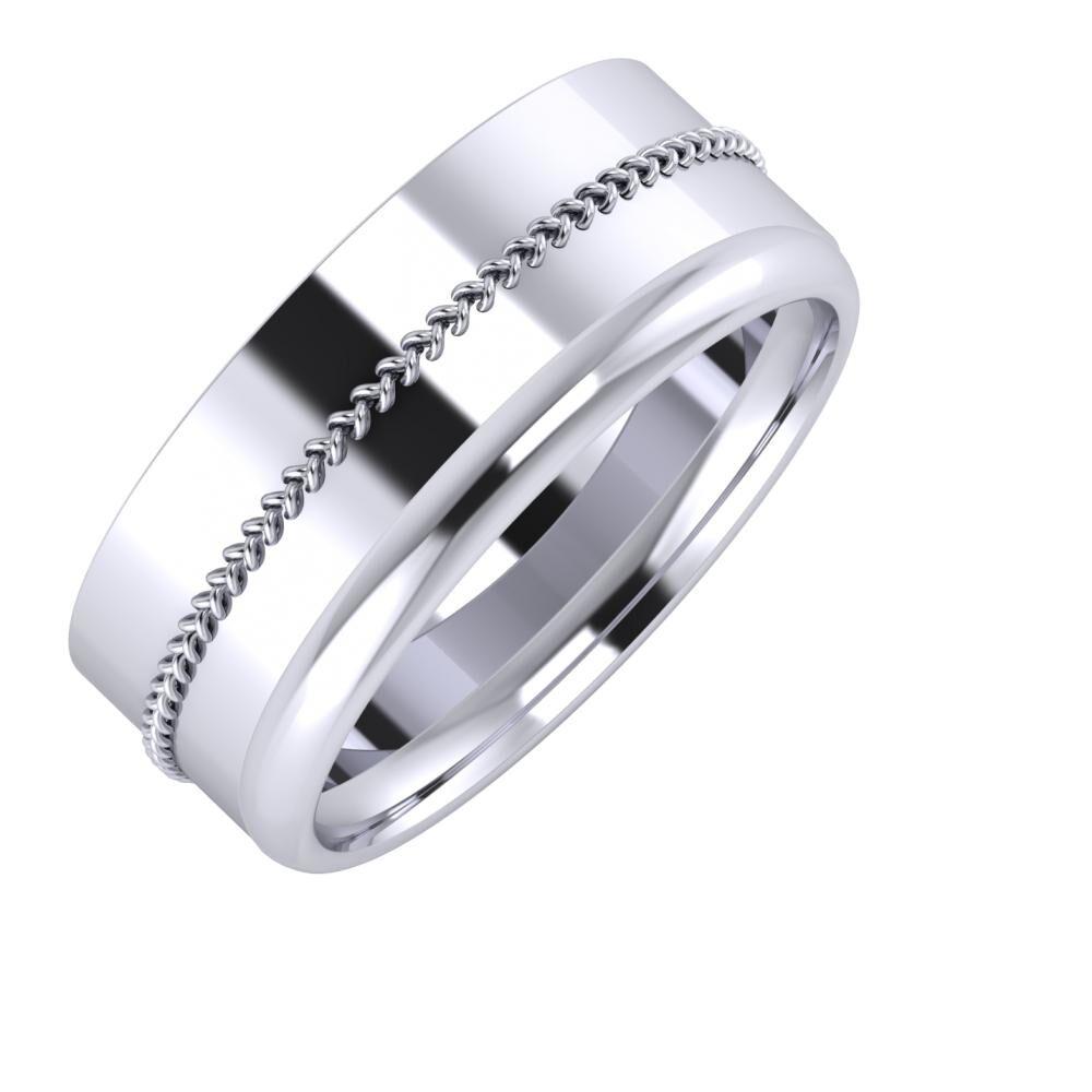 Áfonya - Alexa 8mm platina karikagyűrű