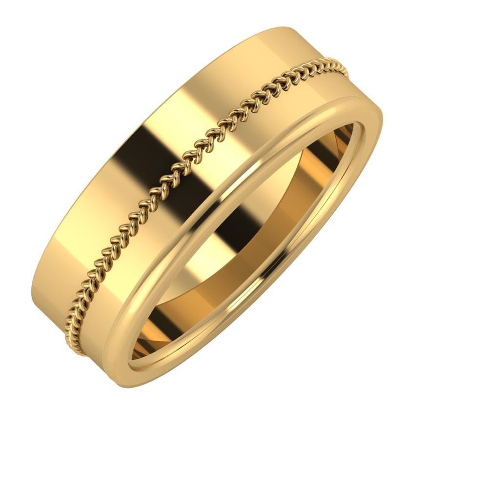 Áfonya - Alexandra 7mm 18 karátos sárga arany karikagyűrű