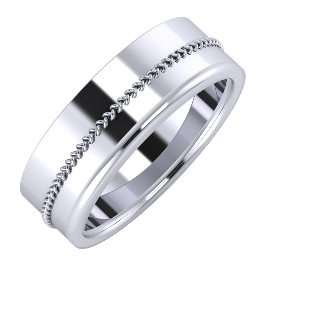 Áfonya - Alexandra 7mm platina karikagyűrű