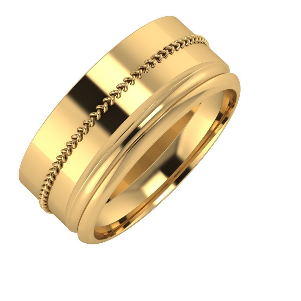 Áfonya - Alexandrin 9mm 18 karátos sárga arany karikagyűrű