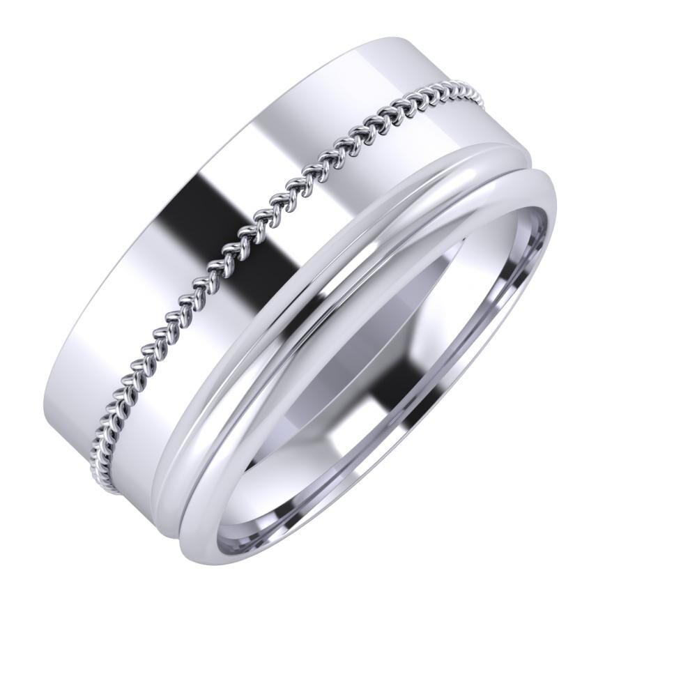 Áfonya - Alexandrin 9mm platina karikagyűrű