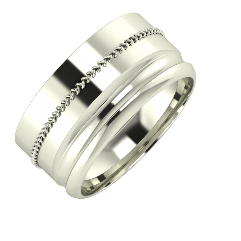 Áfonya - Alexandrin 10mm 14 karátos fehér arany karikagyűrű