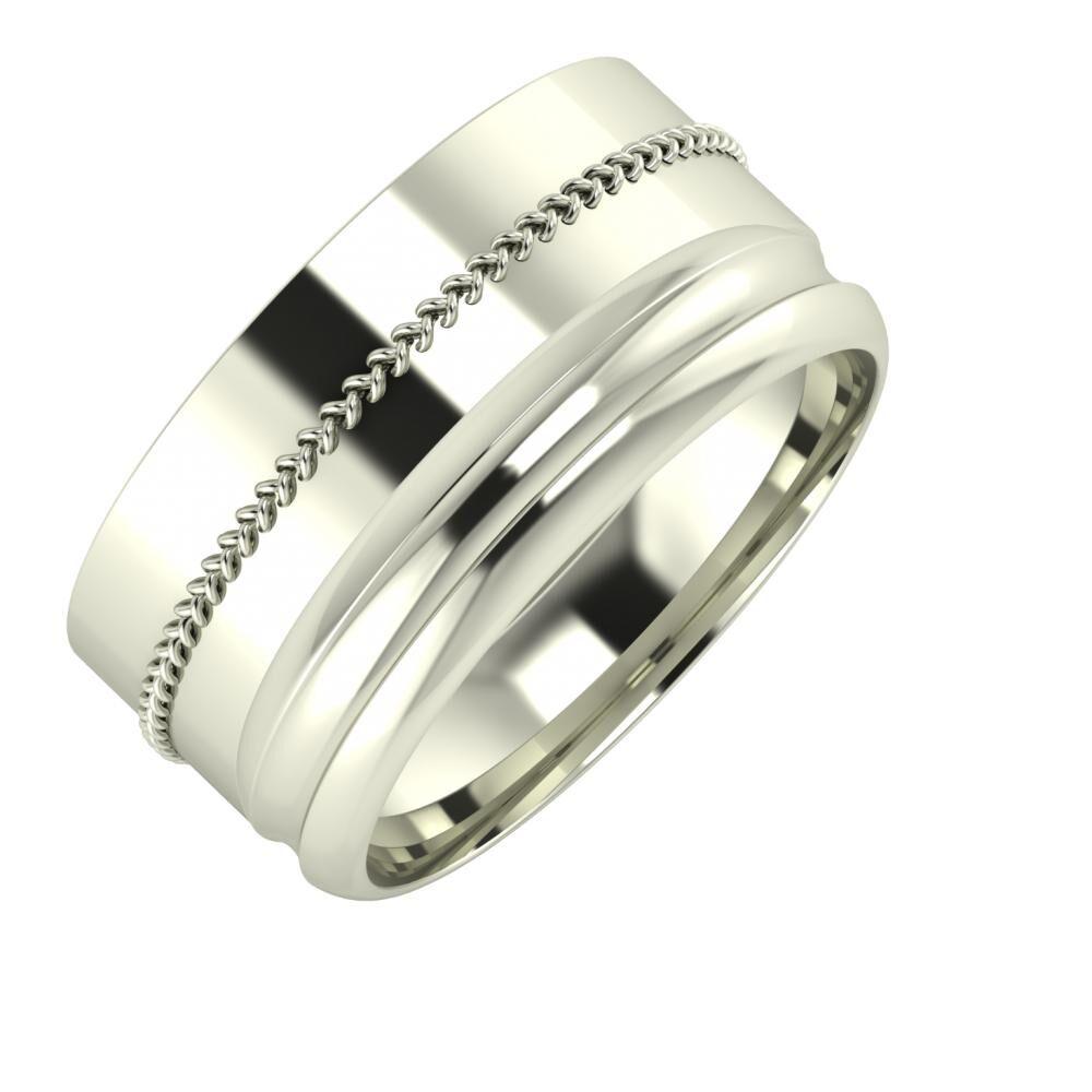 Áfonya - Alexandrin 10mm 18 karátos fehér arany karikagyűrű