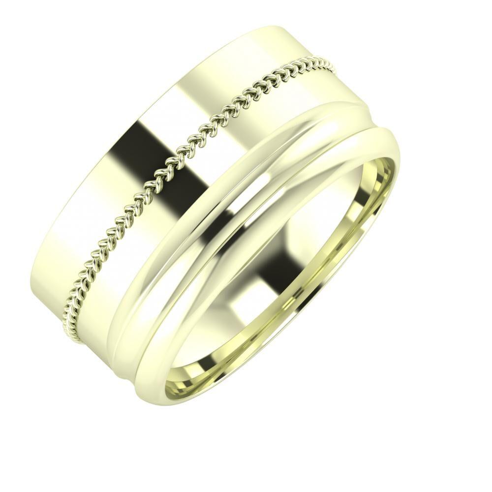 Áfonya - Alexandrin 10mm 22 karátos fehér arany karikagyűrű