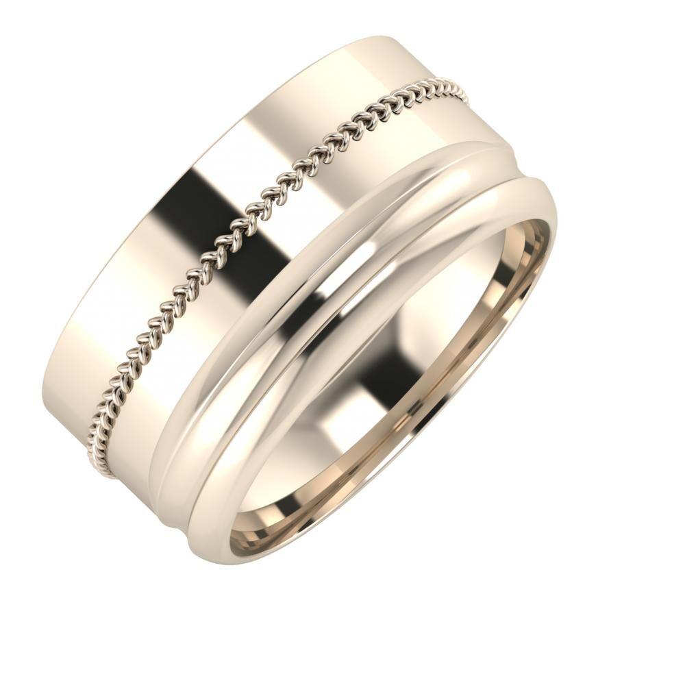 Áfonya - Alexandrin 10mm 22 karátos rosé arany karikagyűrű