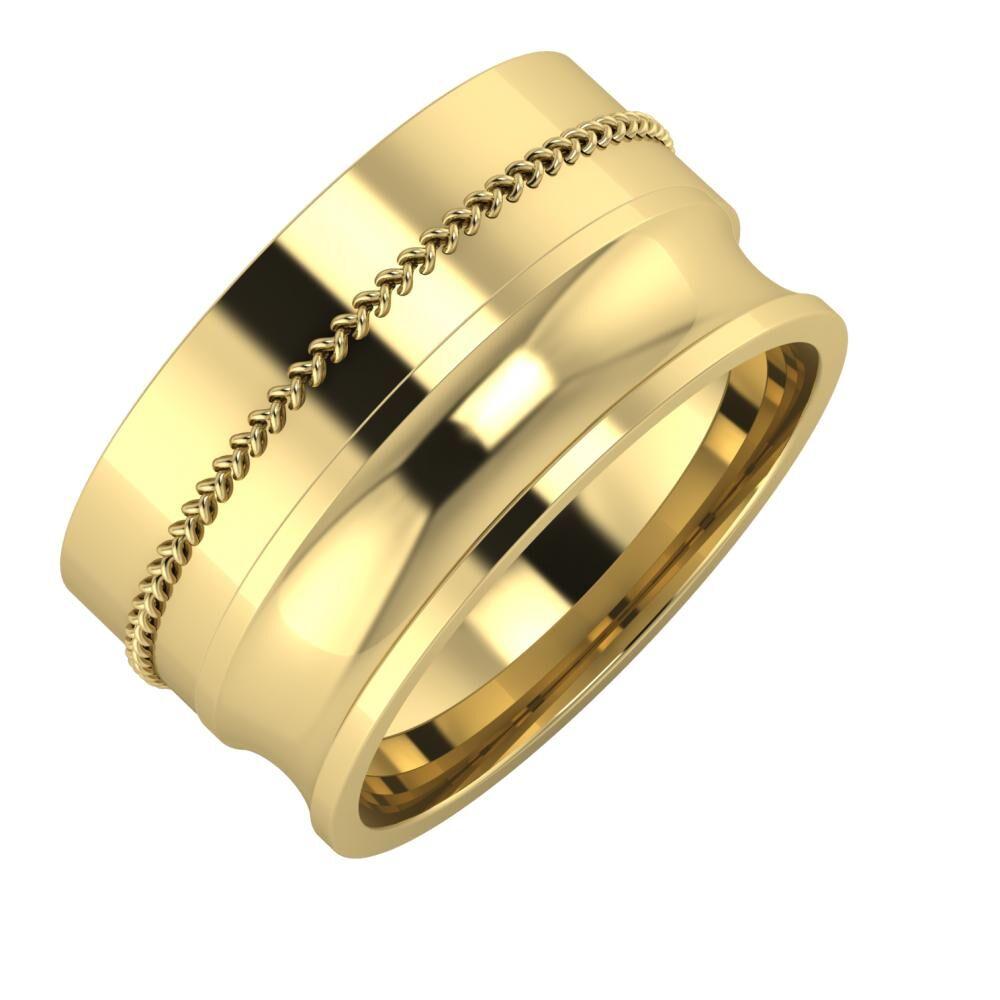 Áfonya - Alexandrina 11mm 14 karátos sárga arany karikagyűrű