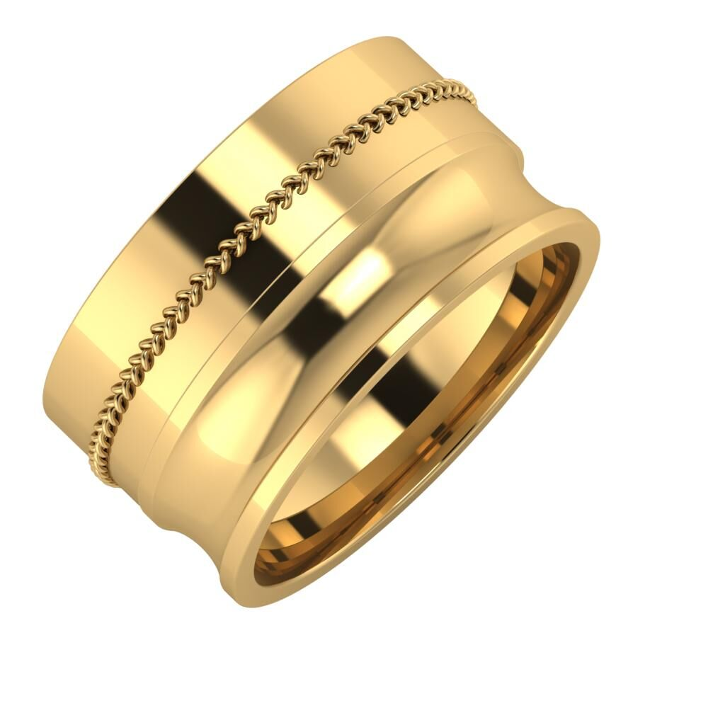 Áfonya - Alexandrina 11mm 18 karátos sárga arany karikagyűrű