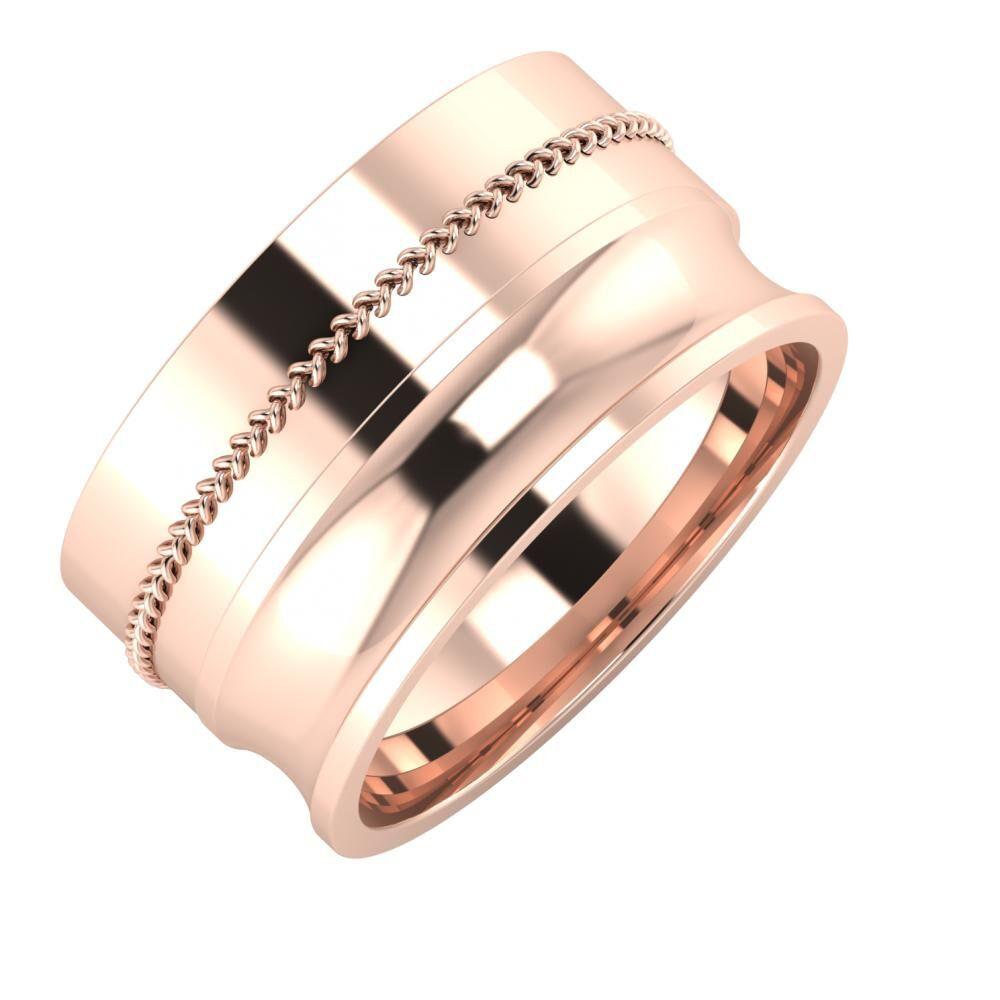 Áfonya - Alexandrina 11mm 14 karátos rosé arany karikagyűrű