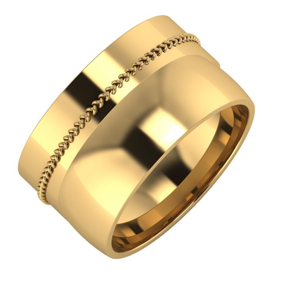 Áfonya - Alma 12mm 18 karátos sárga arany karikagyűrű