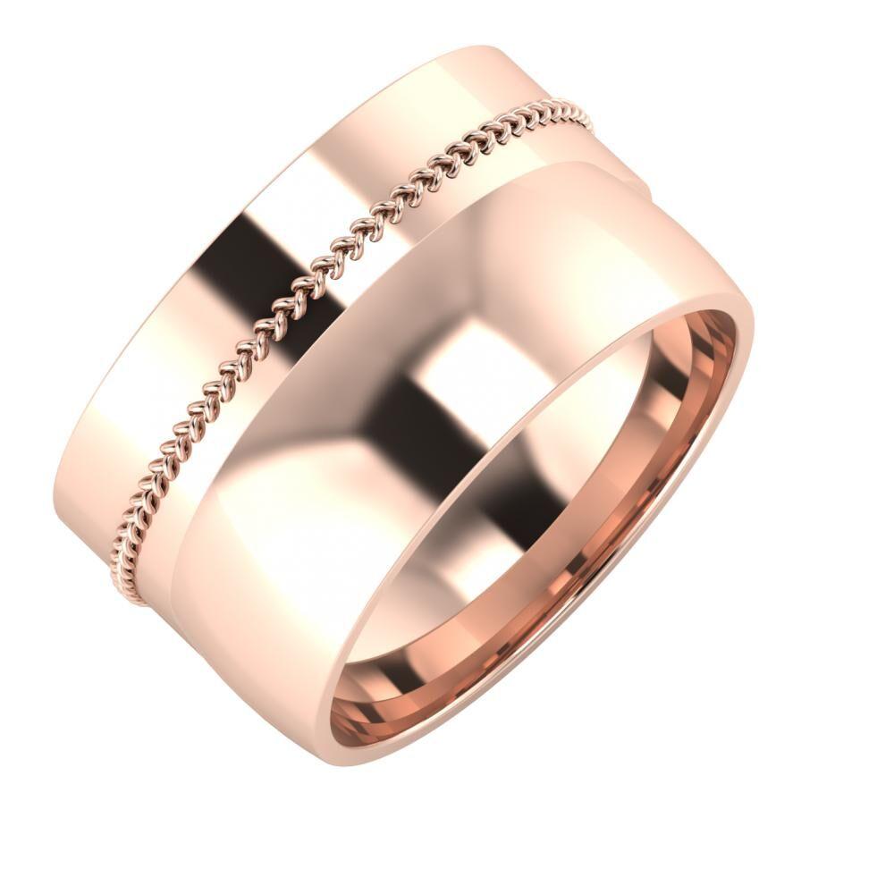 Áfonya - Alma 12mm 18 karátos rosé arany karikagyűrű