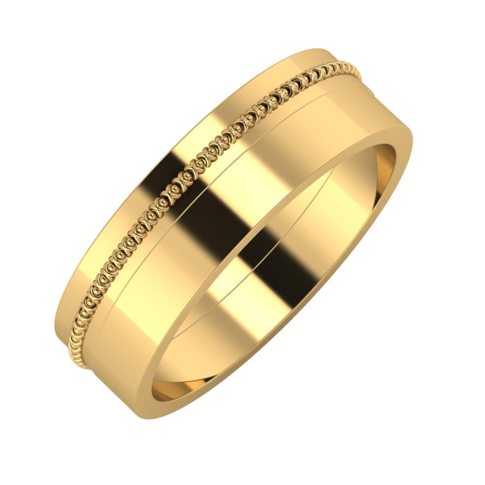 Afrodita - Adela 6mm 22 karátos sárga arany karikagyűrű