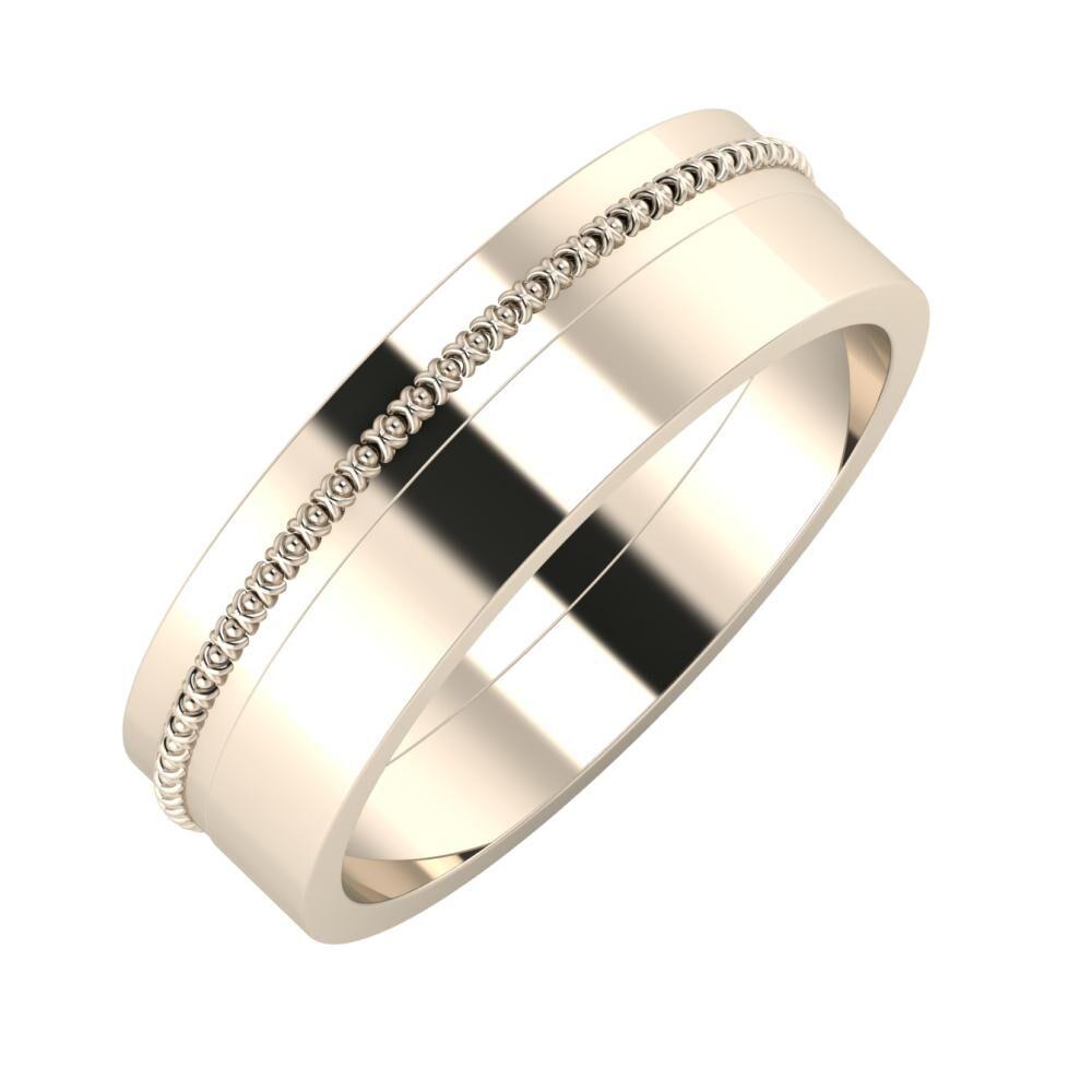Afrodita - Adela 6mm 22 karátos rosé arany karikagyűrű