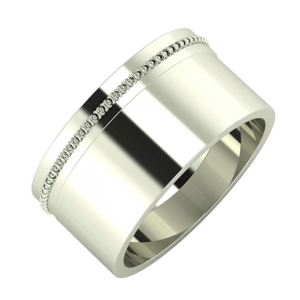 Afrodita - Adela 10mm 18 karátos fehér arany karikagyűrű