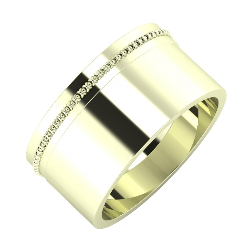 Afrodita - Adela 10mm 22 karátos fehér arany karikagyűrű