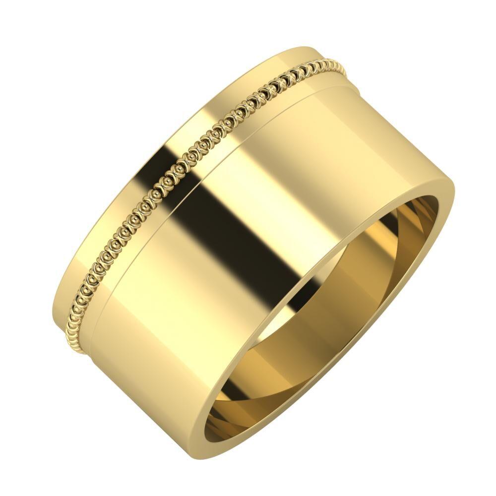 Afrodita - Adela 10mm 14 karátos sárga arany karikagyűrű