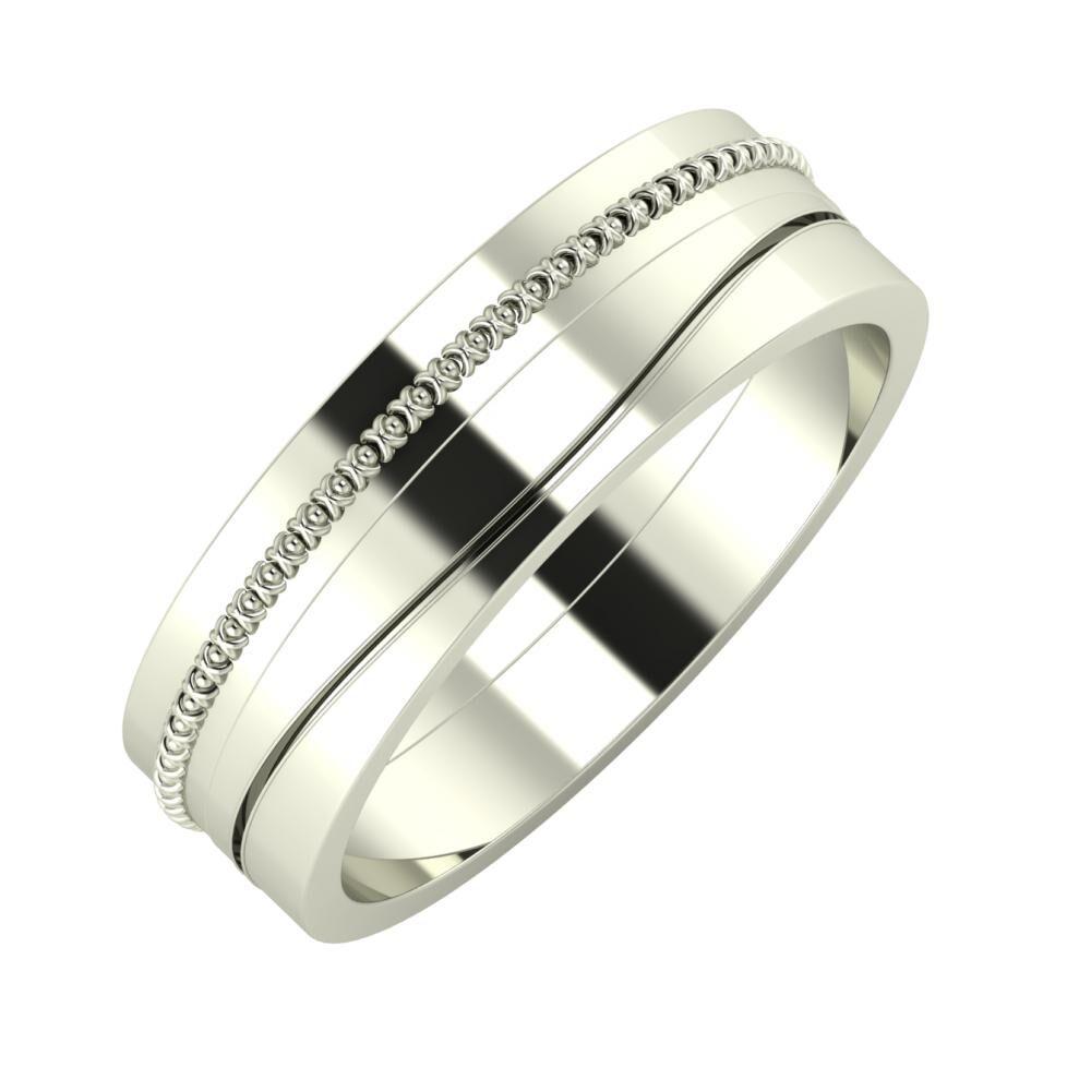 Afrodita - Adelinda 6mm 14 karátos fehér arany karikagyűrű