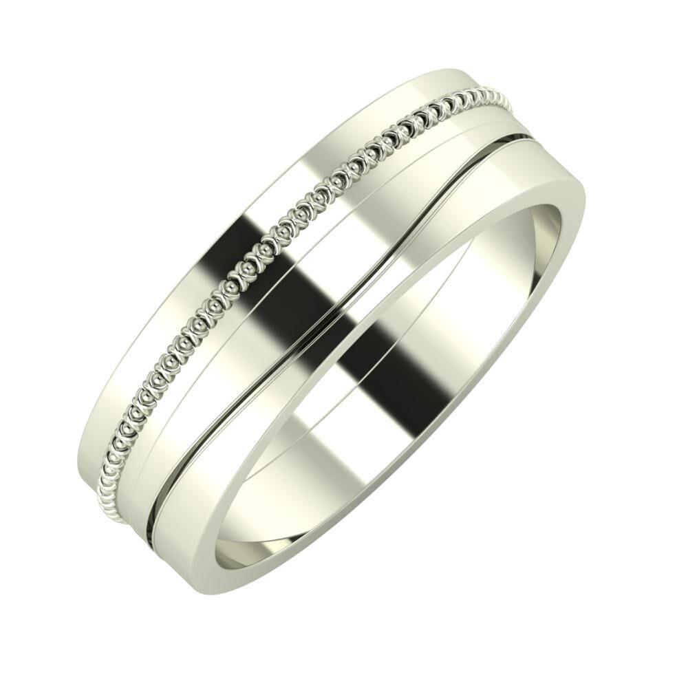 Afrodita - Adelinda 6mm 18 karátos fehér arany karikagyűrű