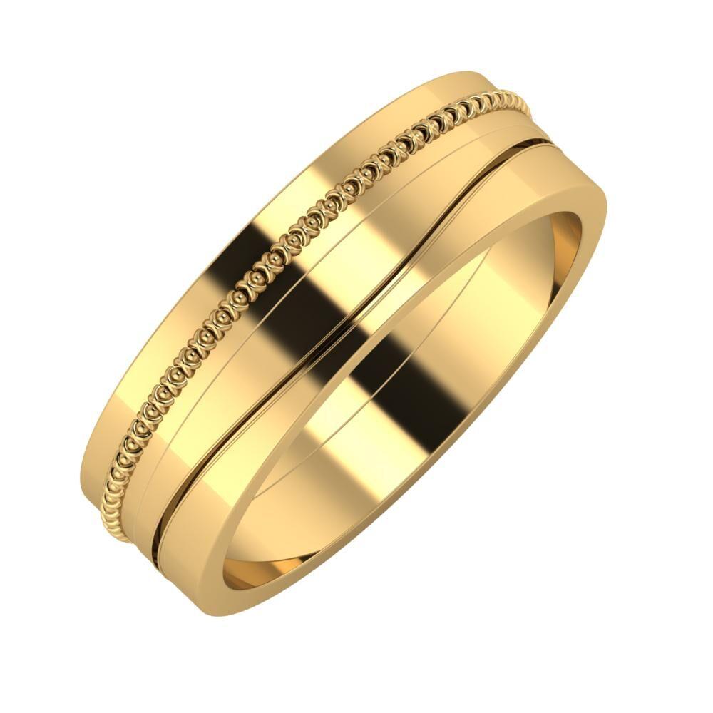 Afrodita - Adelinda 6mm 18 karátos sárga arany karikagyűrű