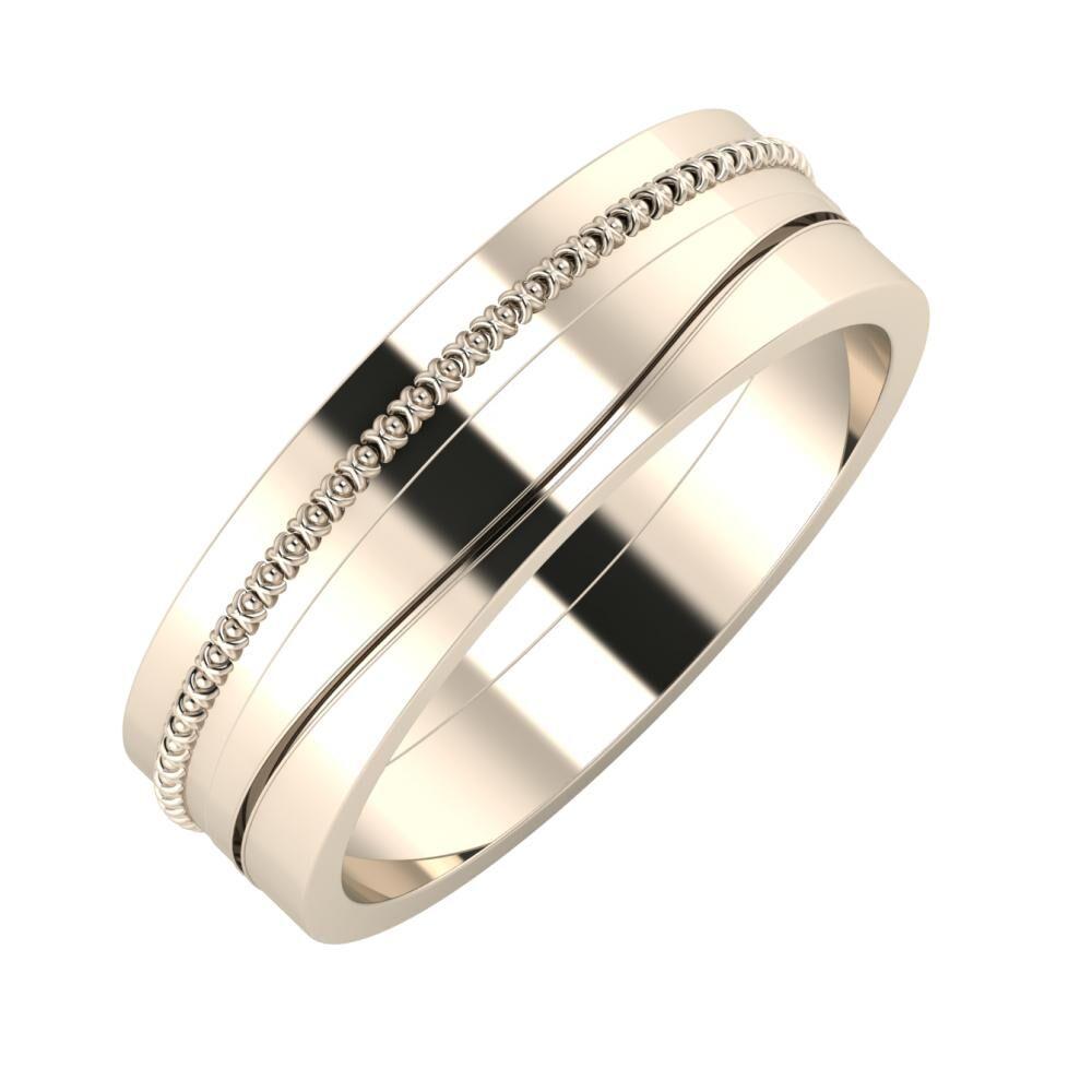 Afrodita - Adelinda 6mm 22 karátos rosé arany karikagyűrű