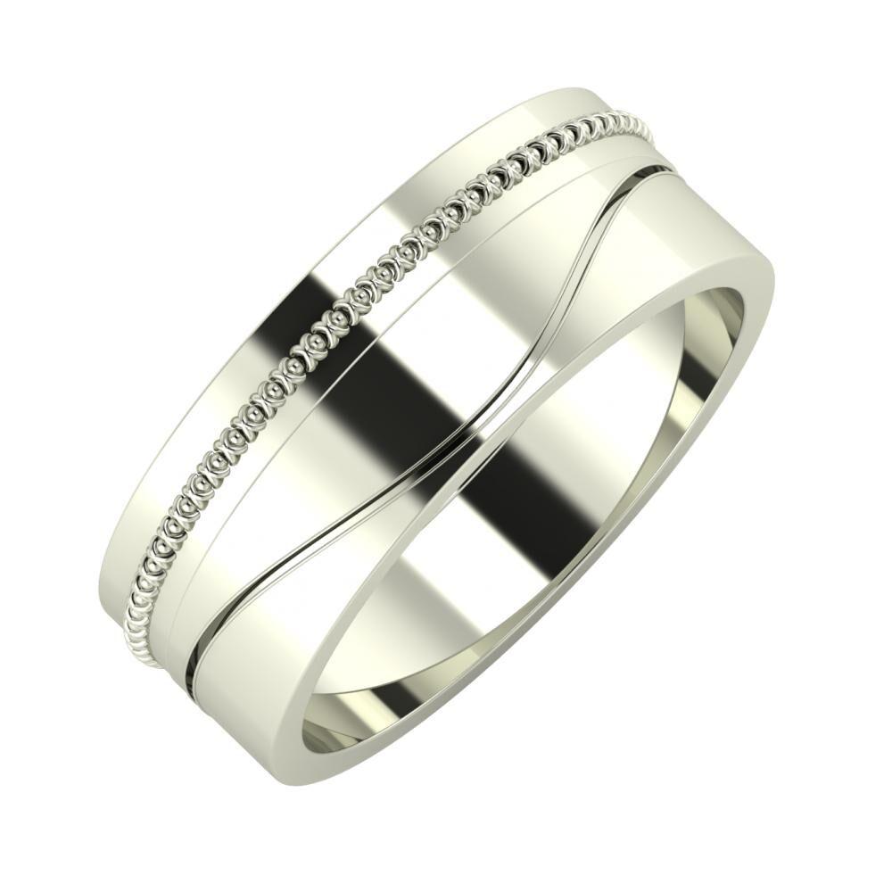 Afrodita - Adelinda 7mm 14 karátos fehér arany karikagyűrű