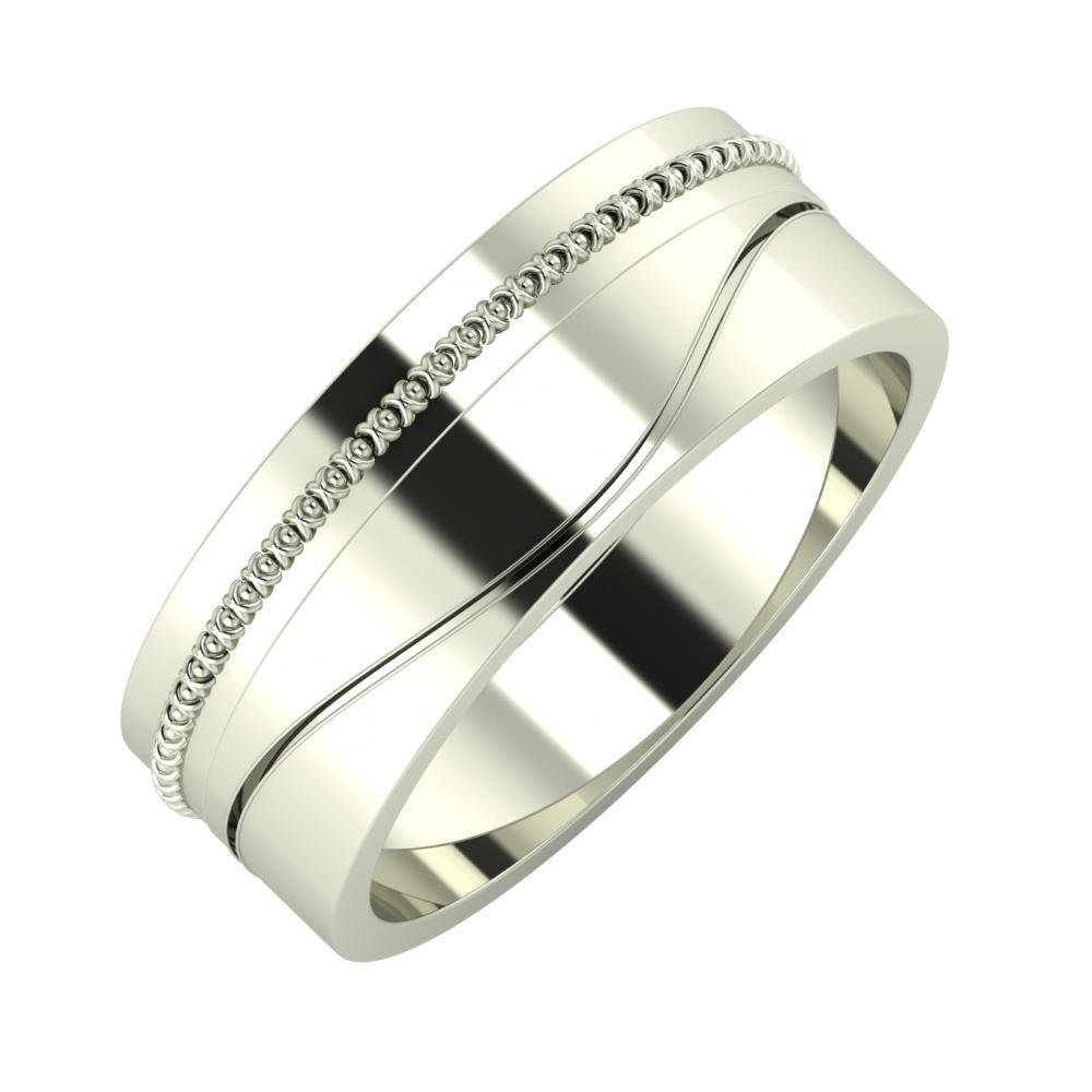 Afrodita - Adelinda 7mm 18 karátos fehér arany karikagyűrű
