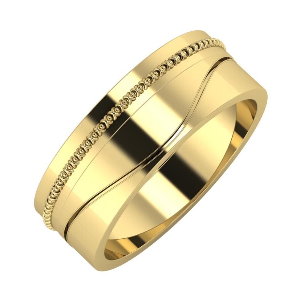 Afrodita - Adelinda 7mm 14 karátos sárga arany karikagyűrű