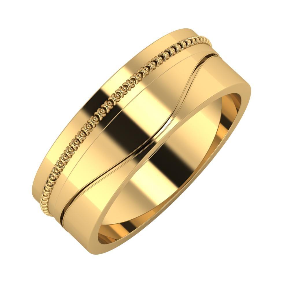 Afrodita - Adelinda 7mm 18 karátos sárga arany karikagyűrű