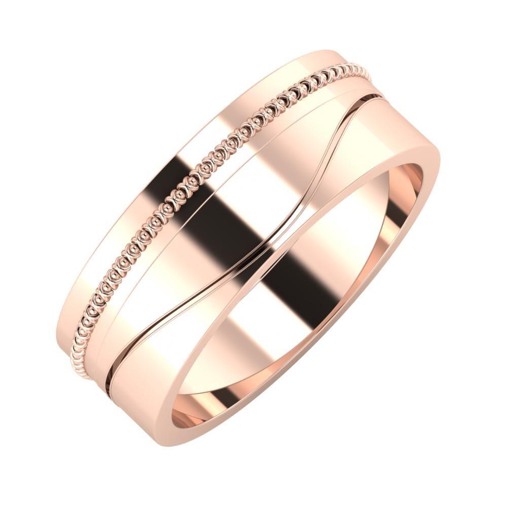 Afrodita - Adelinda 7mm 18 karátos rosé arany karikagyűrű