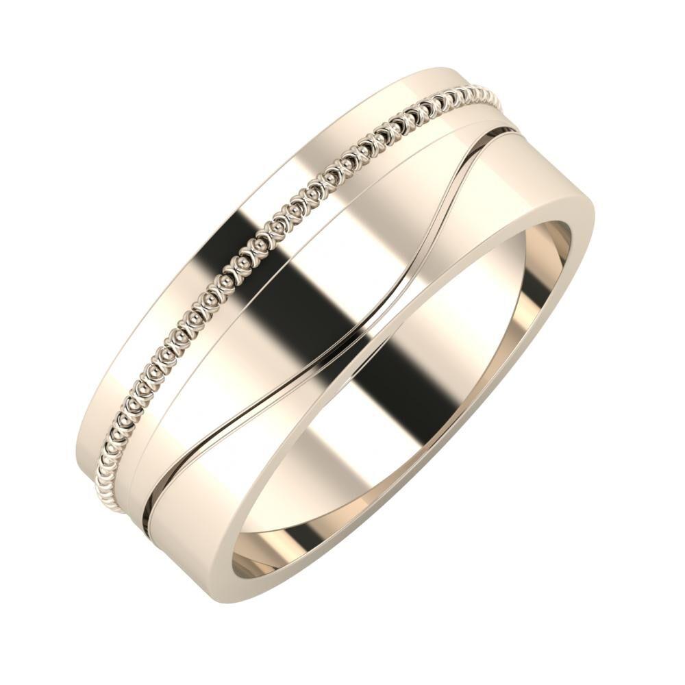 Afrodita - Adelinda 7mm 22 karátos rosé arany karikagyűrű