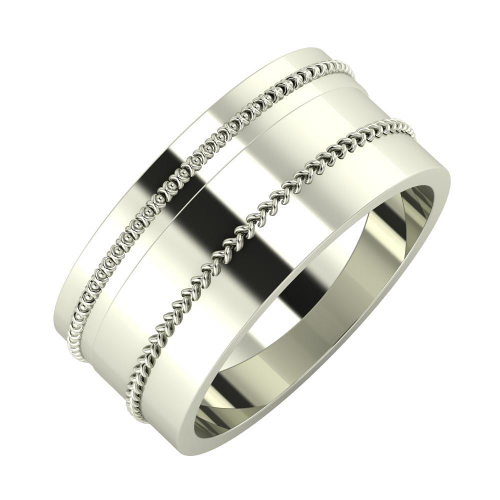 Afrodita - Áfonya 9mm 14 karátos fehér arany karikagyűrű