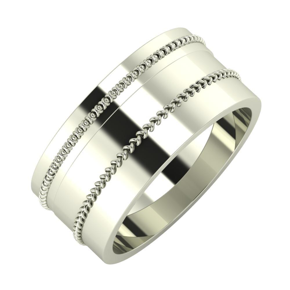 Afrodita - Áfonya 9mm 18 karátos fehér arany karikagyűrű